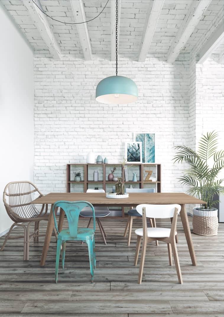 chaise industrielle vintage moderne