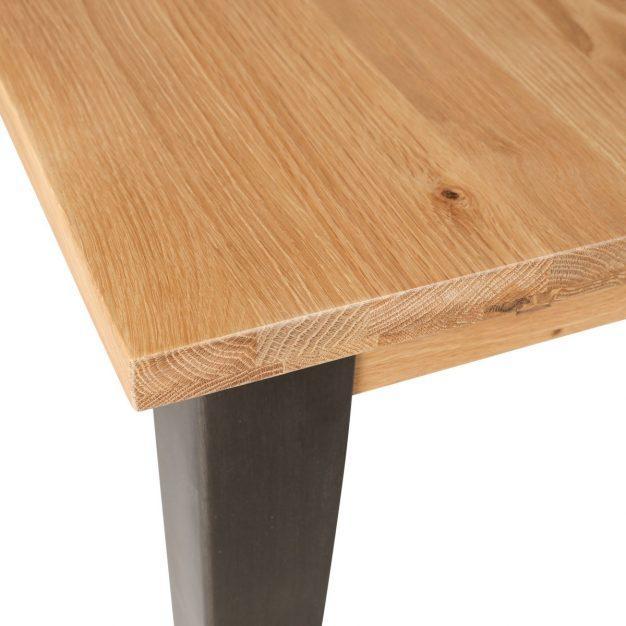 table de bar chêne massif métal