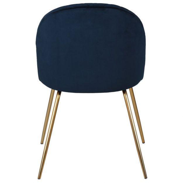 chaise style scandinave en velours