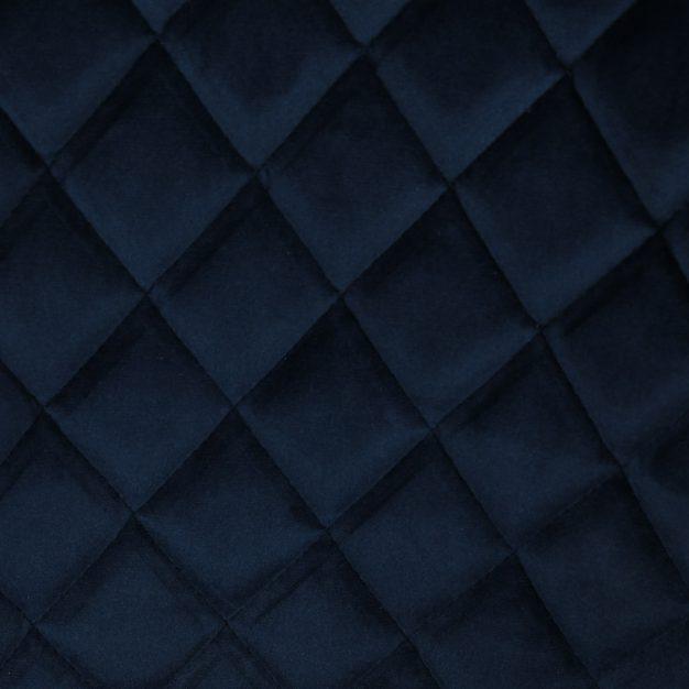 chaise velours losange bleu