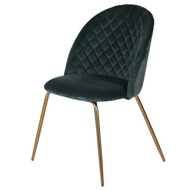 chaise style scandinave en velours oscar
