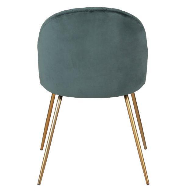 chaise velours matelassée