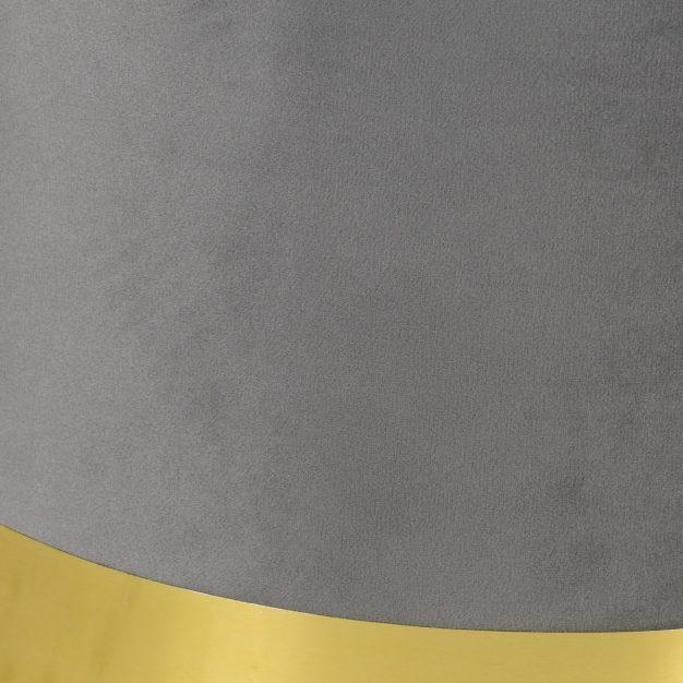 pouf en velours gris avec bande doré