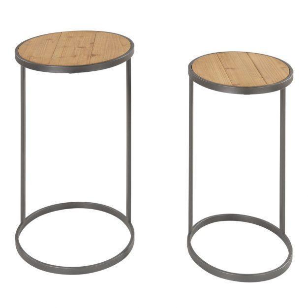table basse en bois style indu
