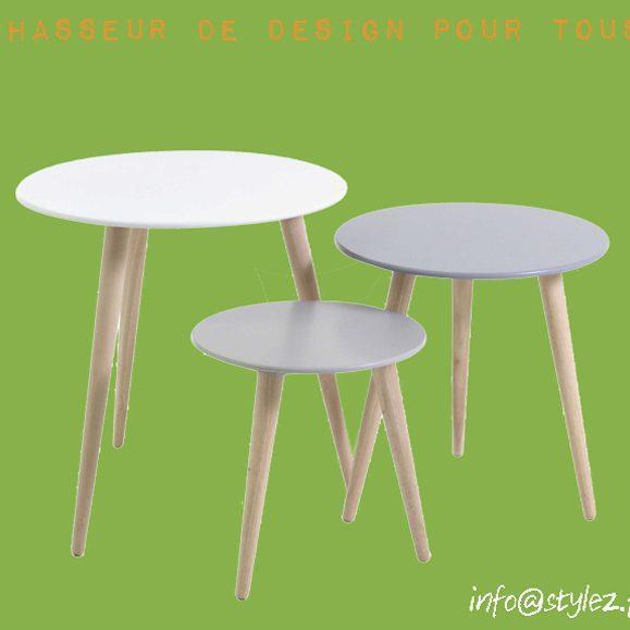 table gigogne ronde