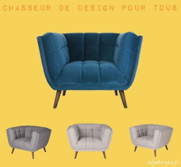 fauteuil cocon bleu gris blanc
