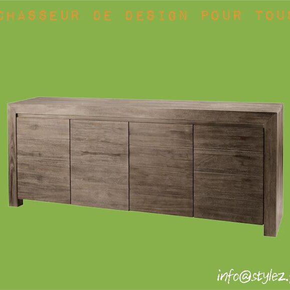 buffet grand bois design marron