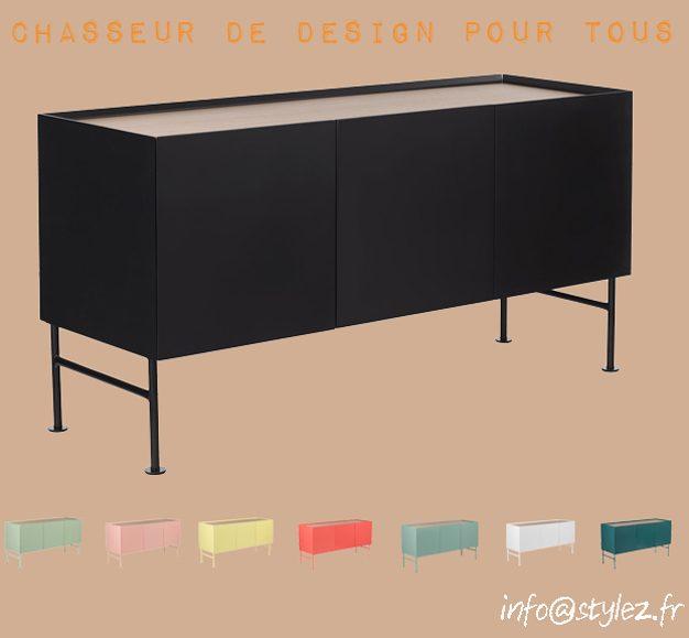 Buffets colorés avec plateau en chêne 120cm (1)