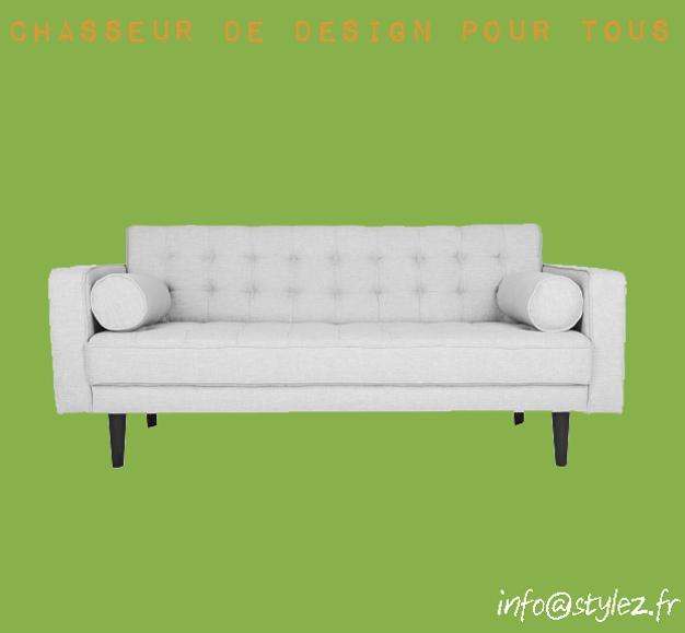 canapé moderne gris clair accoudoirs