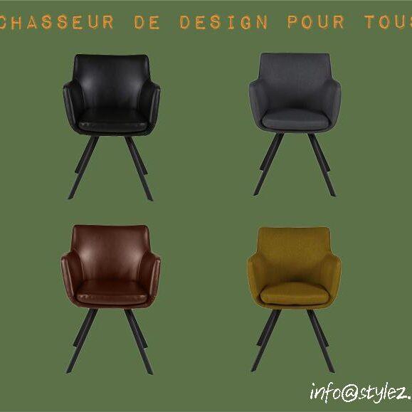 chaise fauteuil karl en tissu