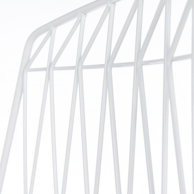 chaise dossier moderne blanche design