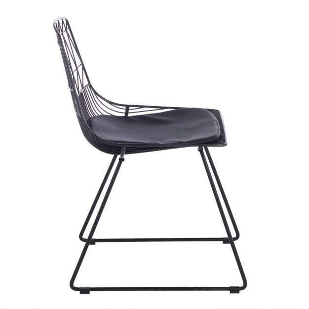 chaise géométrie design noir mate