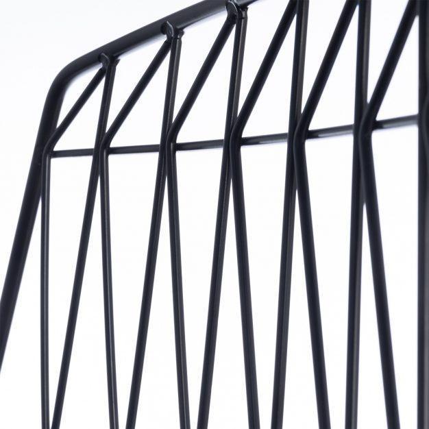 chaise barreau design noir