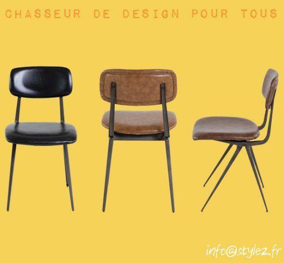 chaise marron vintage