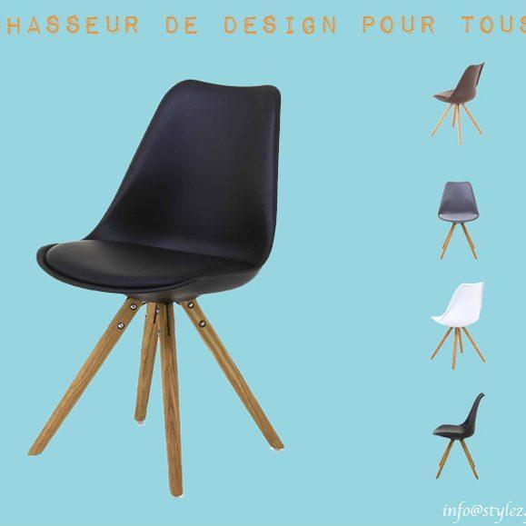 chaise design assise rembourrée couleurs
