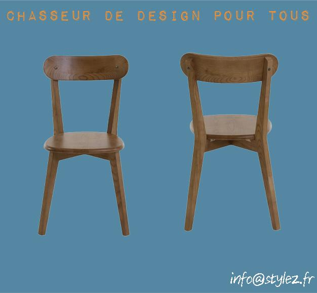 chaise bistrot en orme