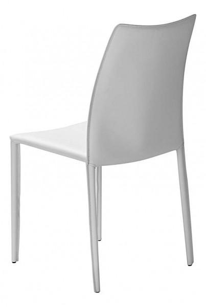 chaise blanche en cuir