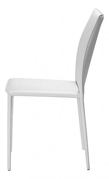 chaise cuir blanc