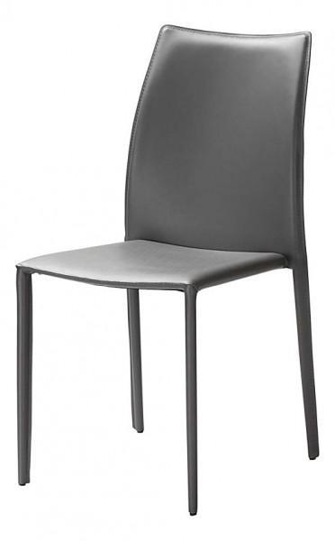 chaise cuire teinte grise