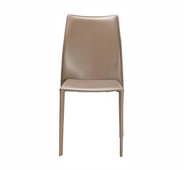 chaise cuir marron