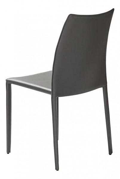 chaise classique cuir gris