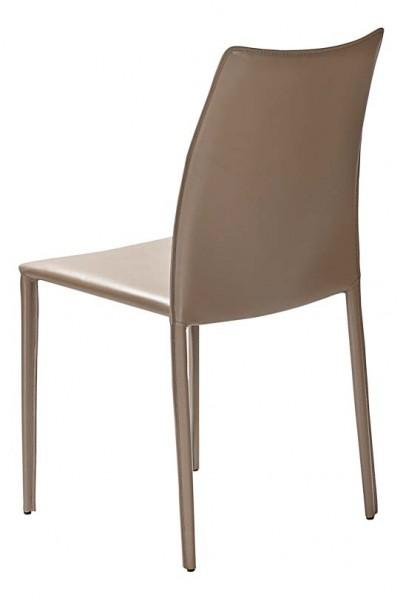 chaise classique en cuir plusieurs teintes