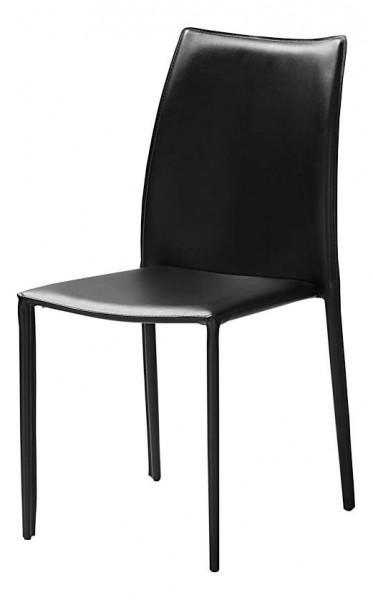 chaise cuir teinte noire