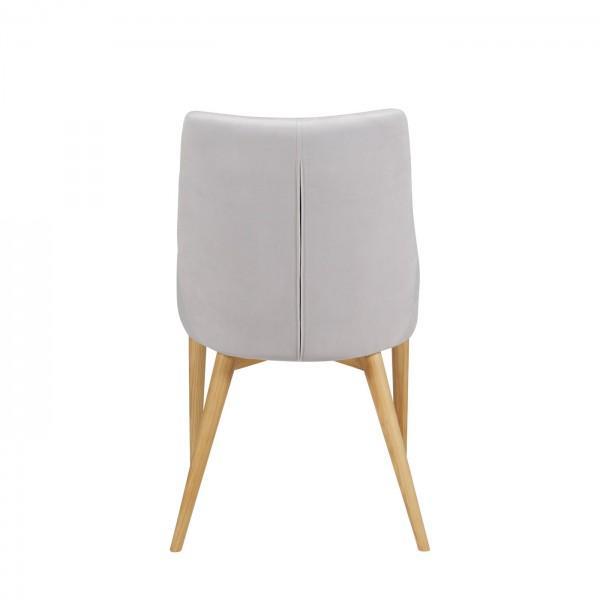 chaise en velours blanc confort