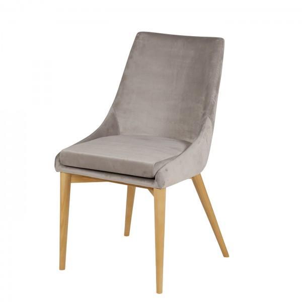 chaise grise en velours
