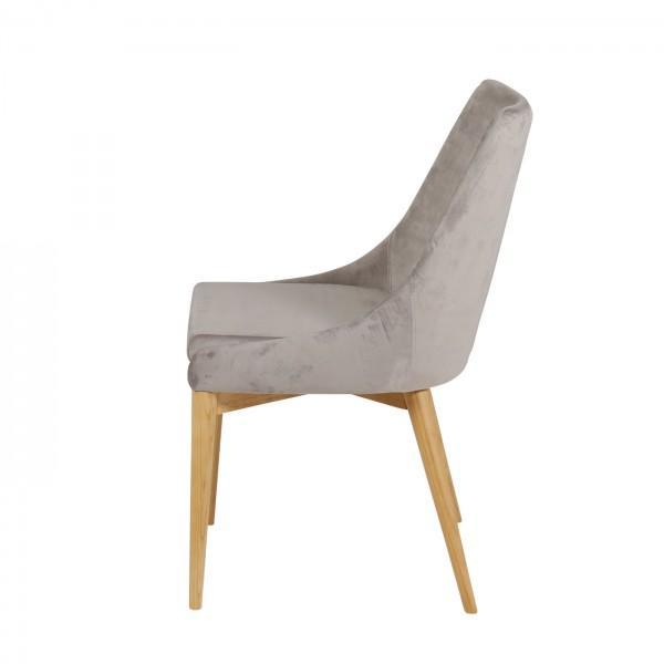 chaise confor en velours gris