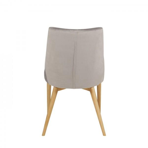 chaise velours confort gris