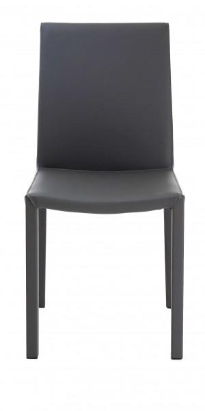 chaise classique gris foncé moderne
