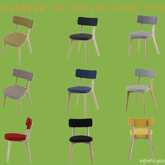 chaise nordique assise rembourrée confortable