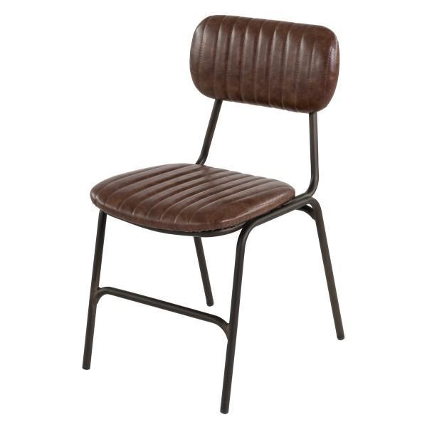 chaise année 50 vintage cuir