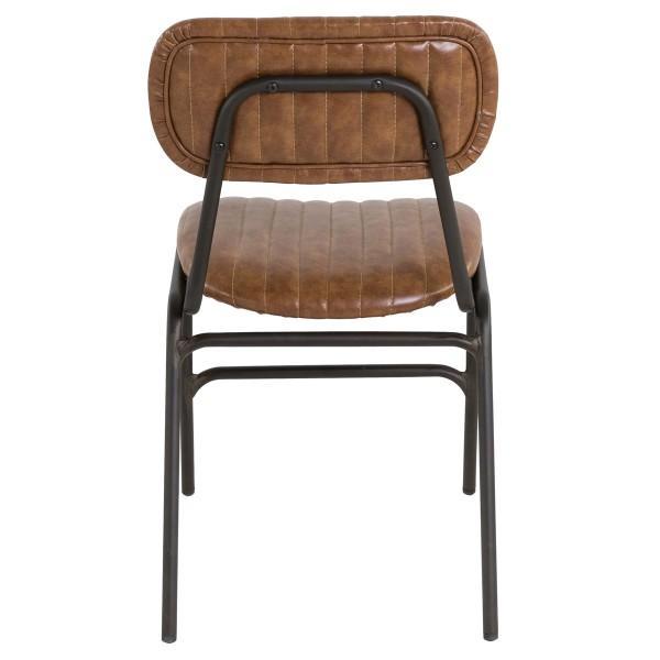 chaise confortable simili cuir marron