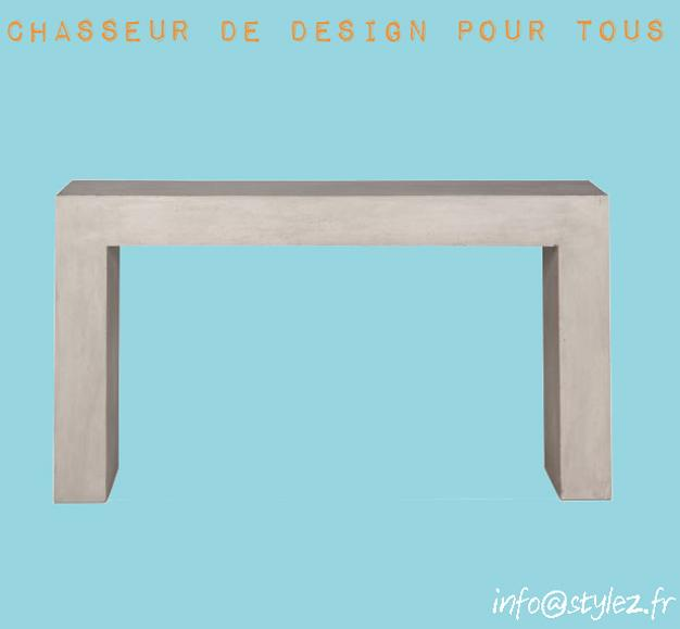 console design béton élégante grise