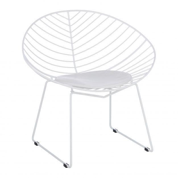 chaise assise rembourrée confortable blanche