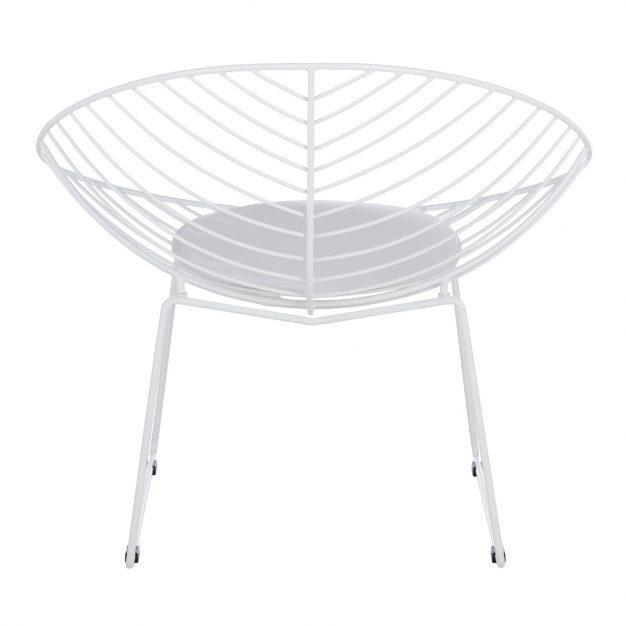 chaise confortable rayé blanche design