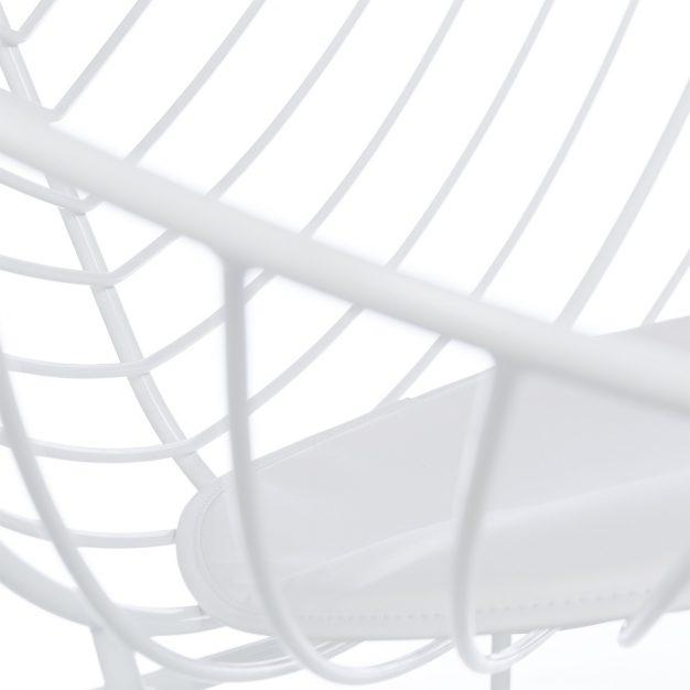 chaise rayé design blanche