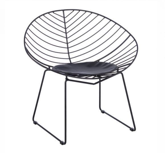 fauteuil assise rembourrée design noir