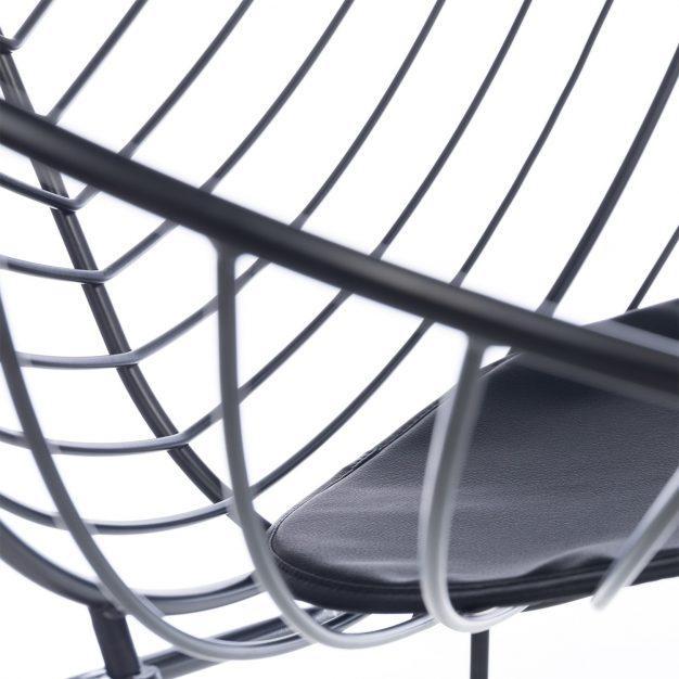 fauteuil design noir mate métal