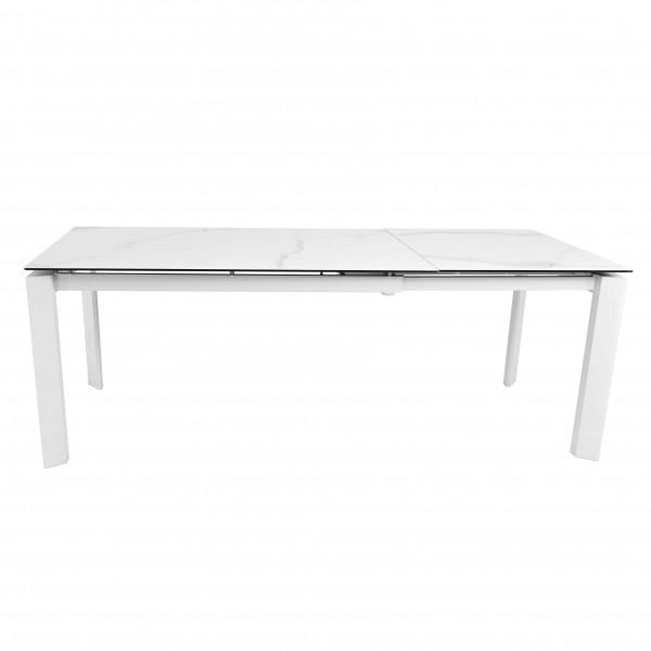 table blanche lumineuse effet marbre