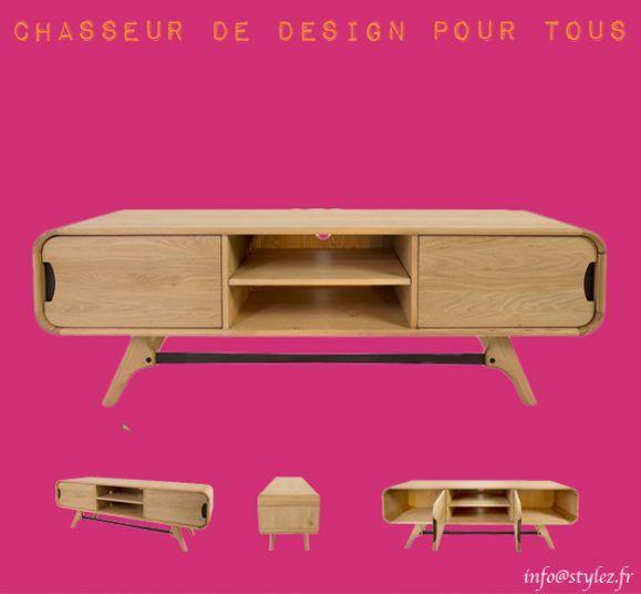 meuble tv bas design bois