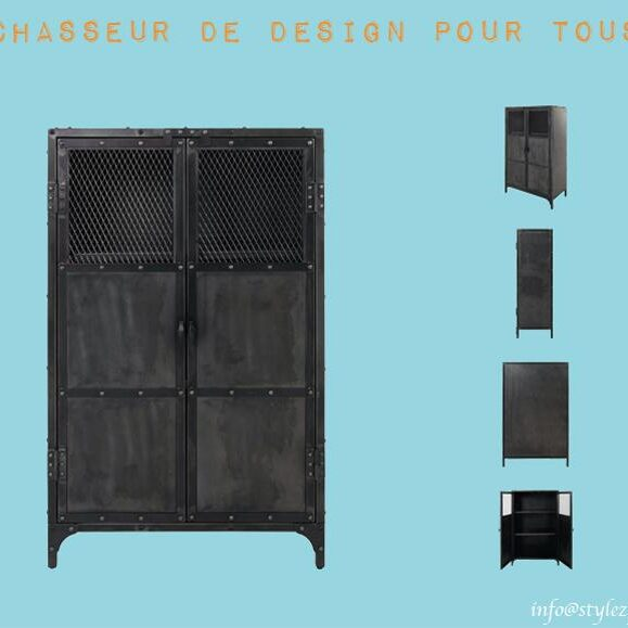 meuble trois étagères industrielle design
