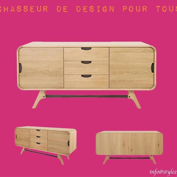 meuble bois chêne tiroirs cases