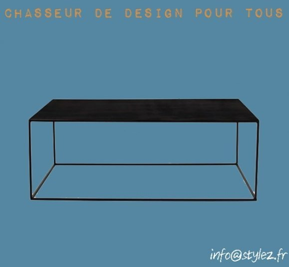 table basse fine design noir