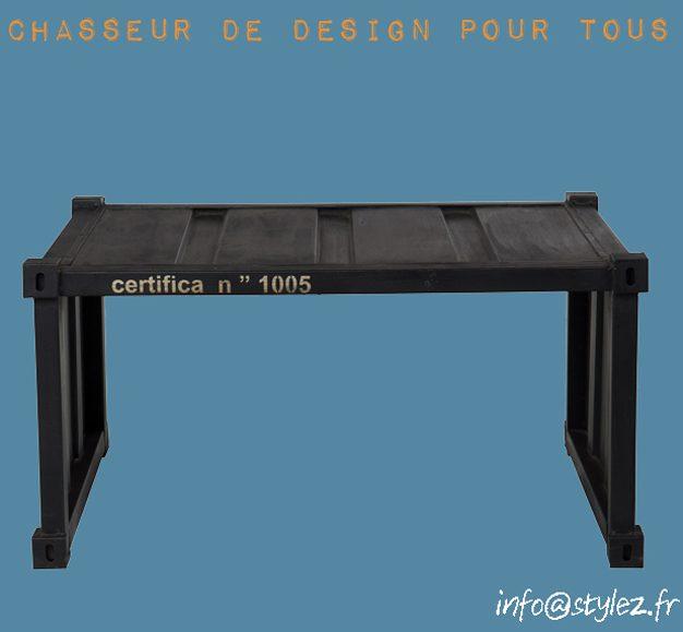 Table basse container en acier 92cm