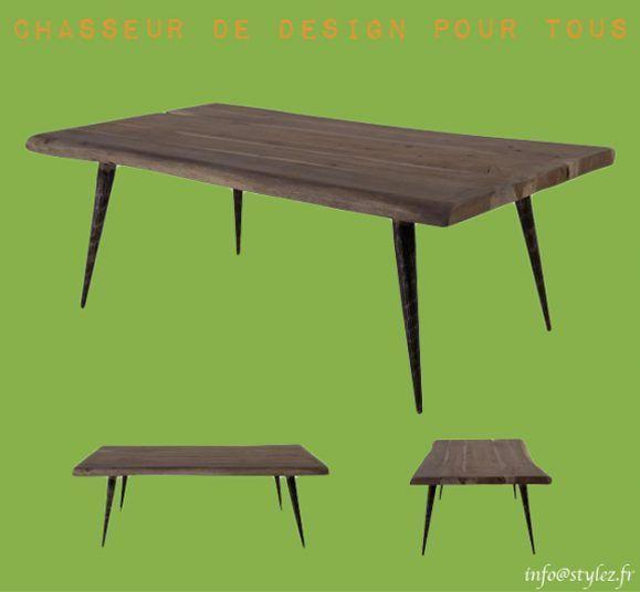table basse en acassia style scandinave