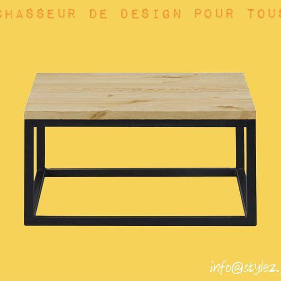 table basse salon bois naturel