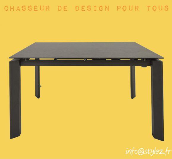 table carré design céramique noir
